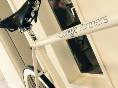 La bicicletta ufficiale di Google vinta dalla nostra agenzia in occasione di un contest ufficiale
